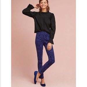 {Anthropologie} Cropped Skinny Trousers Size 4 NWT